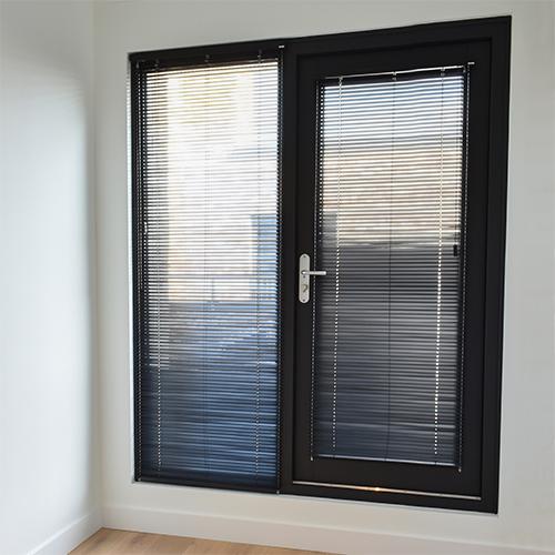 houten jaloezie 25 mm spankoord deur