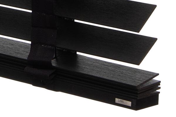 houten jaloezie abachi hout lamel detail