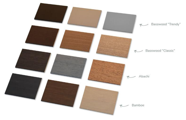 lamellen houten jaloezie verschillende typen hout