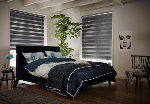 Luxaflex Twist duo rolgordijn slaapkamer dicht
