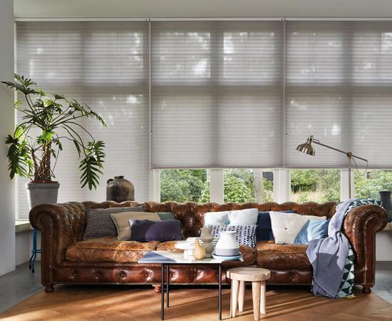 plissegordijn lichtdoorlatend grote ramen